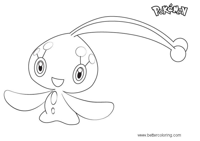 Free Manaphy from Pokemon Coloring Pages printable