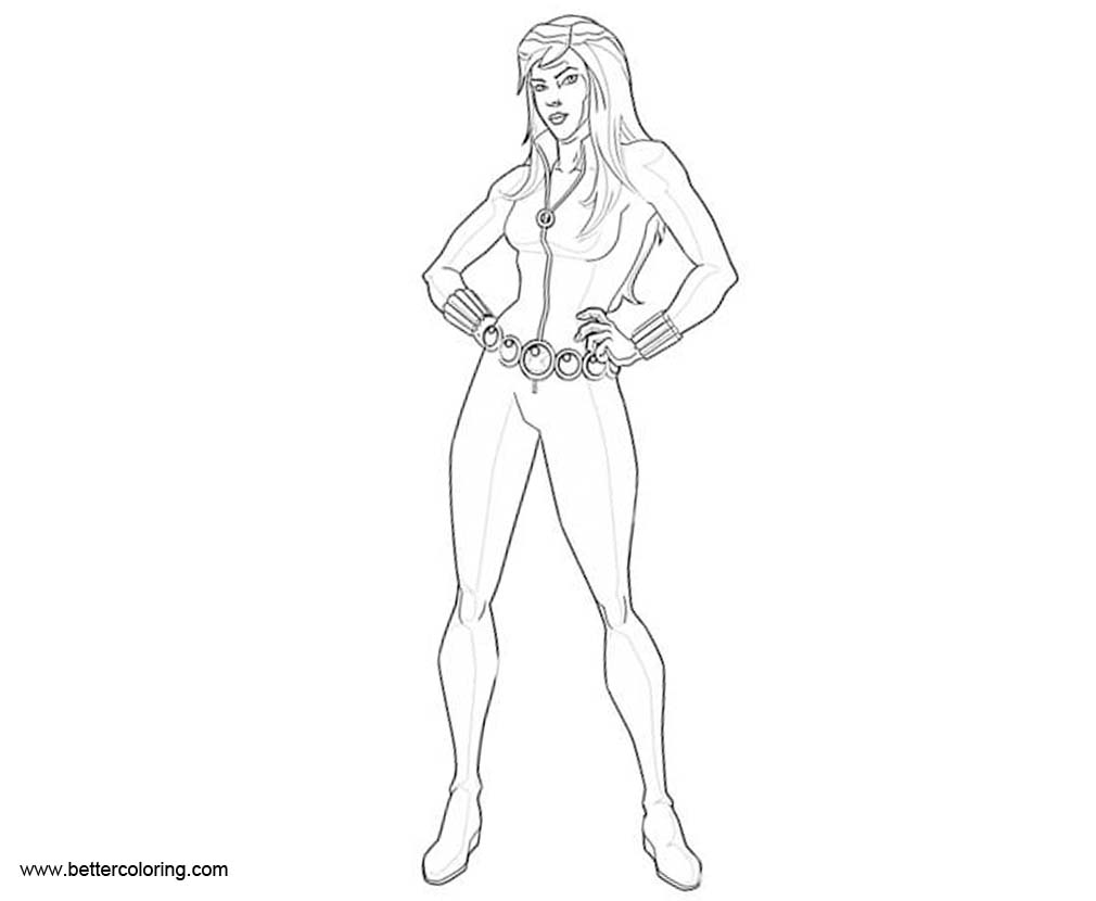 Free Marvel Avengers Black Widow Coloring Pages printable