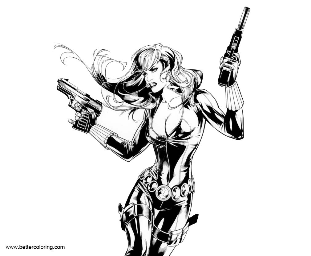 Marvel Black Widow Coloring Pages by MarkMorales - Free Printable ...