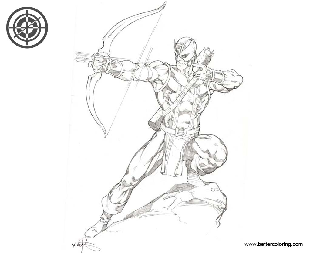 Marvel Hawkeye Coloring Pages - Free Printable Coloring Pages