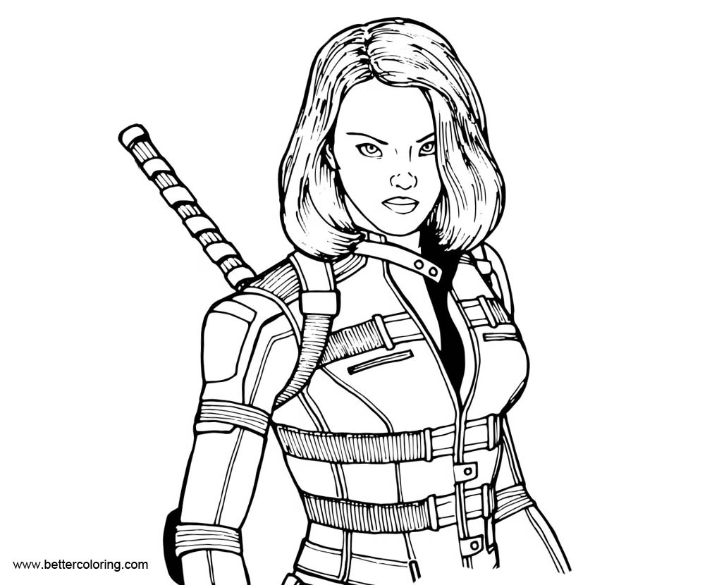 Black Widow Pages Coloring Pages