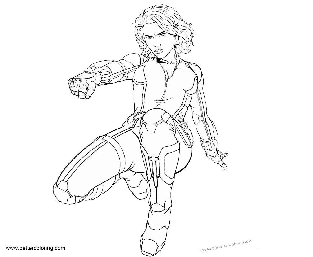 marvel superhero black widow coloring pages free