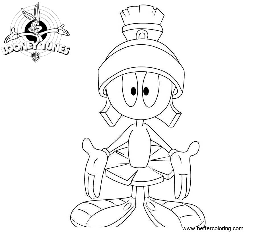 Marvin the Martian from Looney Tunes Coloring Pages - Free Printable ...