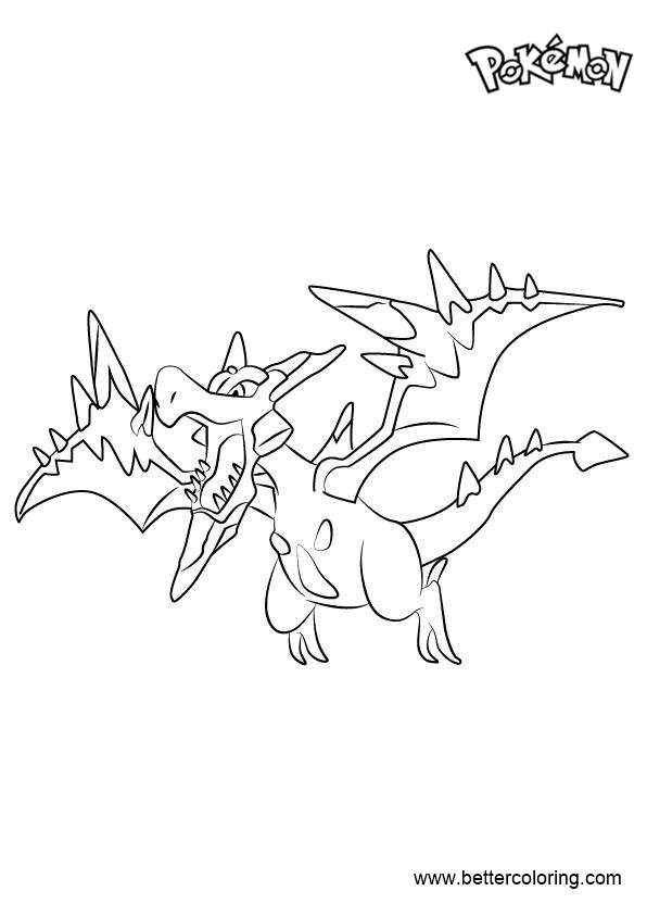 Free Mega Aerodactyl from Pokemon Coloring Pages printable