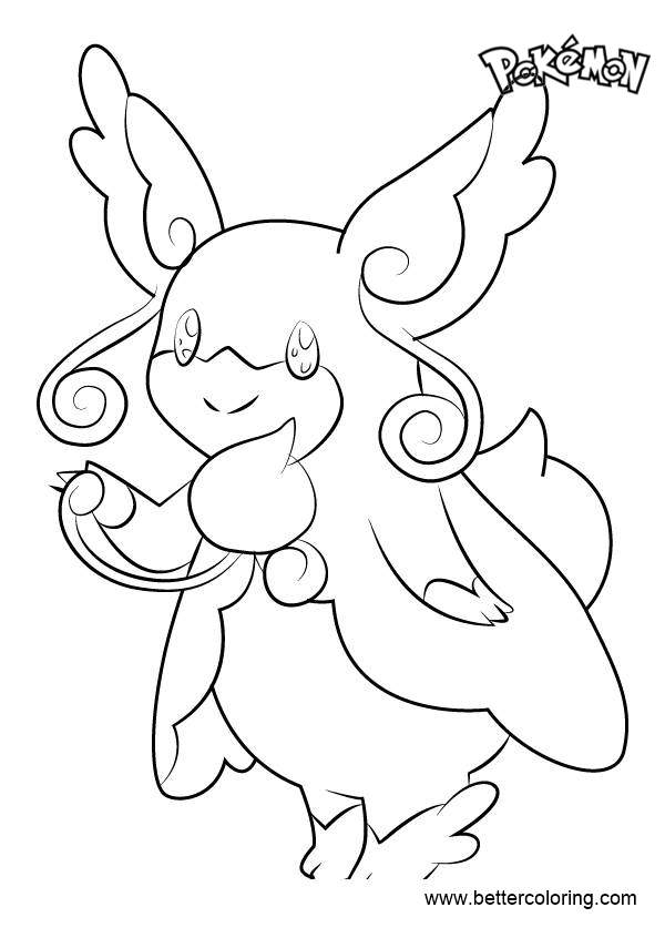 Free Mega Audino from Pokemon Coloring Pages printable