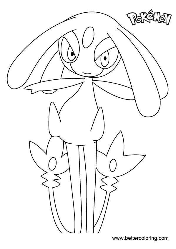 Free Mesprit from Pokemon Coloring Pages printable
