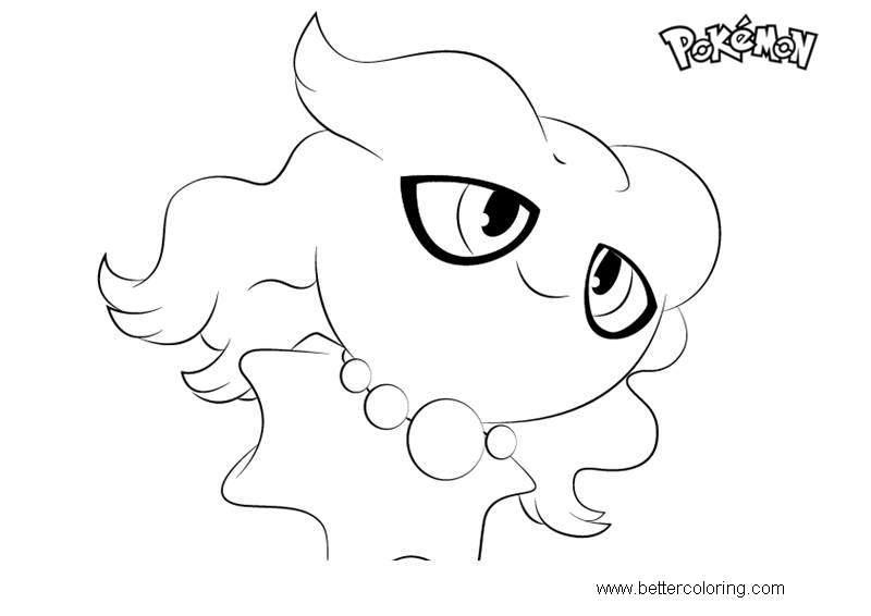 Free Misdreavus from Pokemon Coloring Pages printable