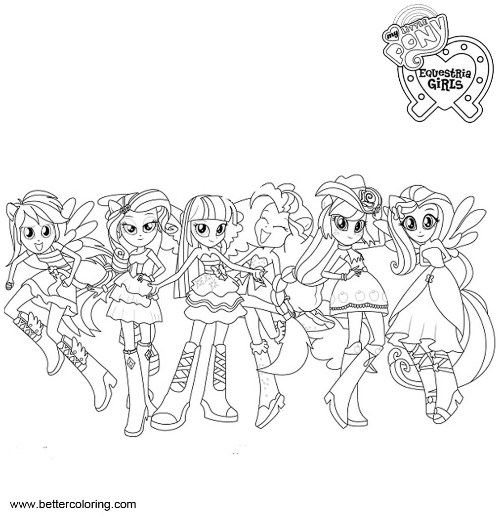 My Little Pony Equestria Girls Coloring Pages Characters