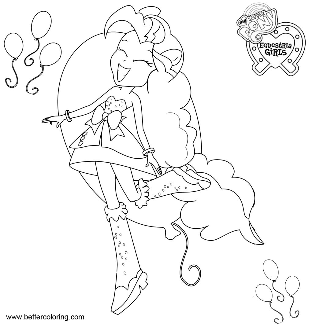 Free My Little Pony Equestria Girls Coloring Pages Pinkie Pie printable