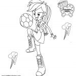 My Little Pony Equestria Girls Coloring Pages Applejack Lineart