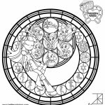 My Little Pony Equestria Girls Coloring Pages Stained Glass Template