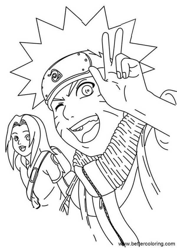 Naruto Coloring Pages Line Drawing