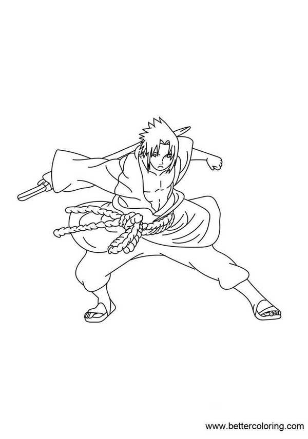 Free Naruto Coloring Pages Naruto As Hokage printable