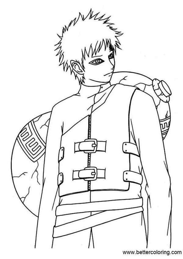 Naruto Coloring Pages Pencil Drawing - Free Printable Coloring Pages
