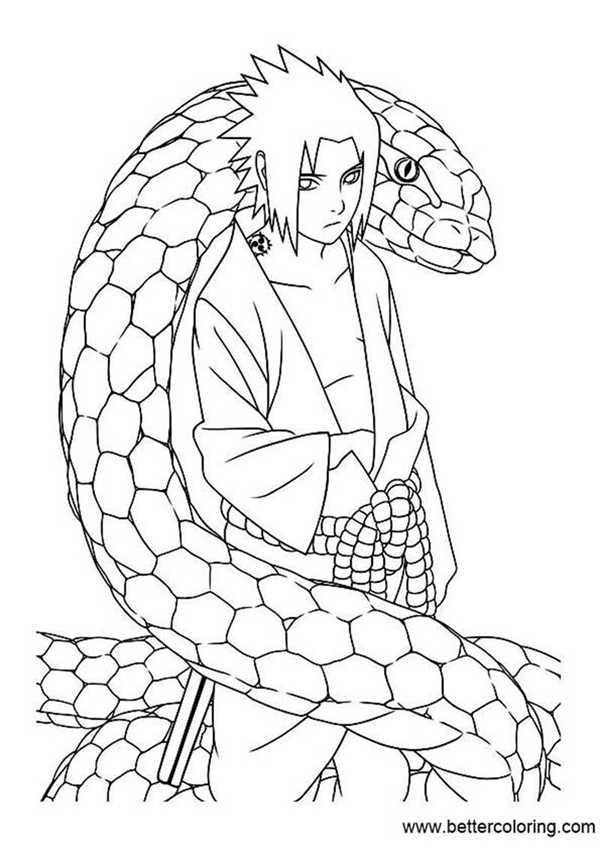 Naruto Coloring Pages Cute Sasuke Cartoon Coloring Pages Of