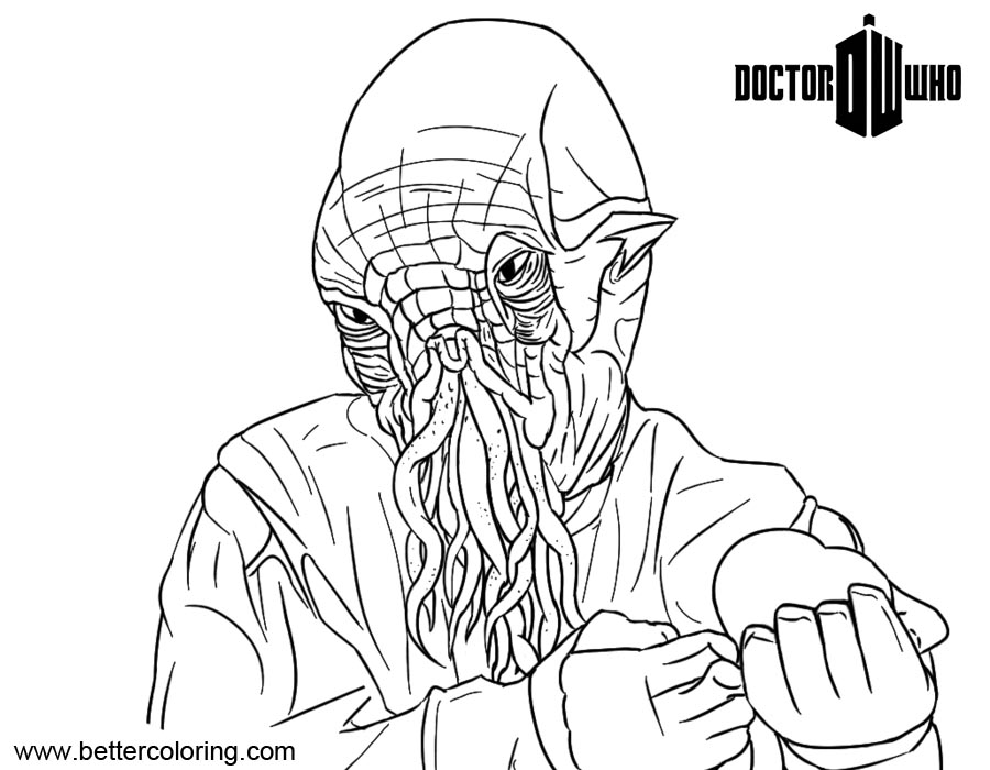 Free Natural Ood from Doctor Who Coloring Pages printable