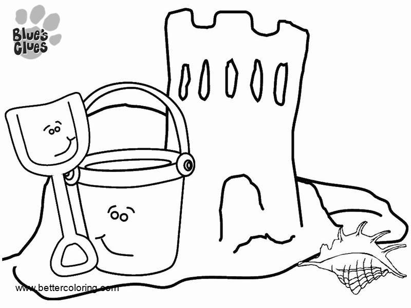 Free Pail and Shovel from Blue's Clues Coloring Pages printable