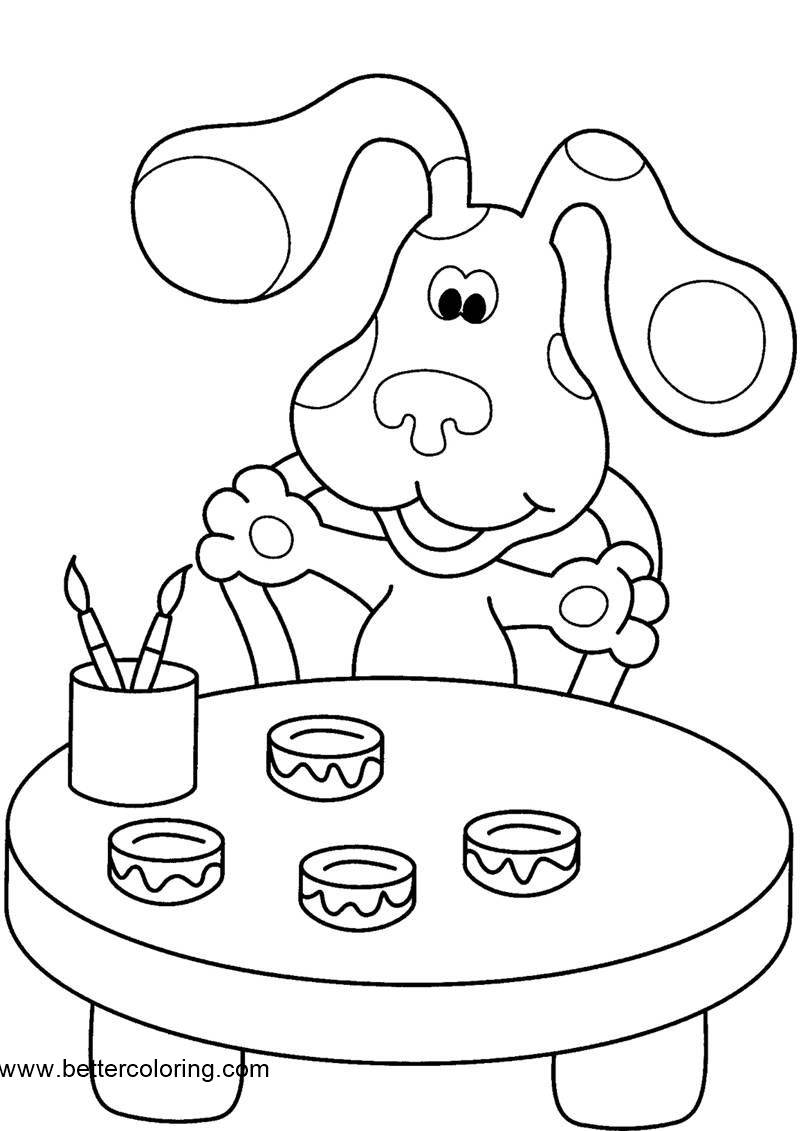 Free Painter Blue's Clues Coloring Pages printable