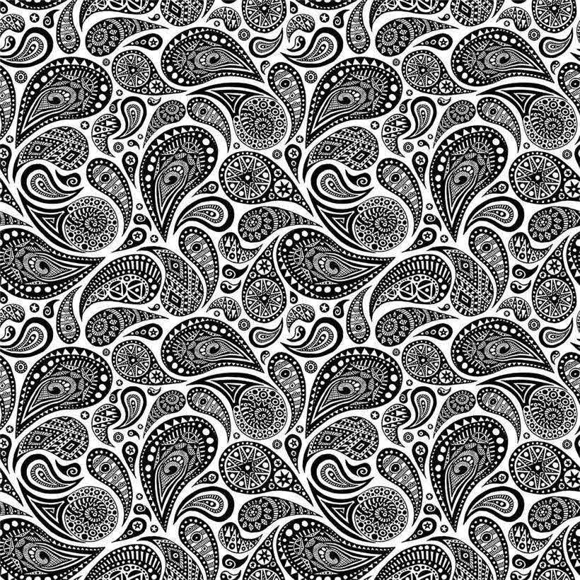 Free Paisley Coloring Pages Fabric Pattern printable