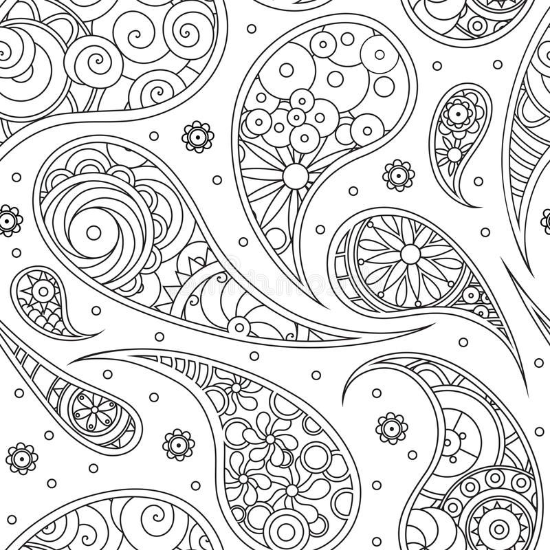 Paisley coloring pages pattern for print free printable for Paisley print coloring pages
