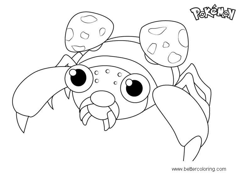 Free Paras from Pokemon Coloring Pages printable