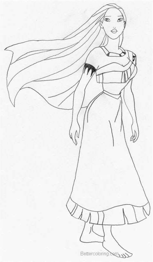 Pocahontas Coloring Pages Fan Drawing by lola091 - Free ...