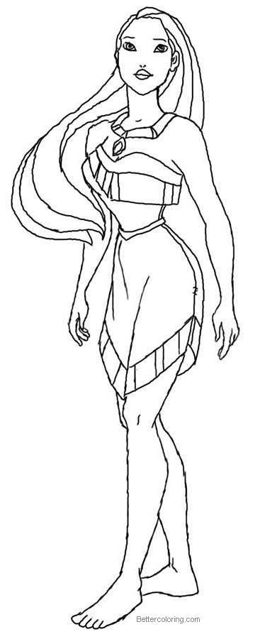 Pocahontas Coloring Pages Outline Free Printable Coloring Pages