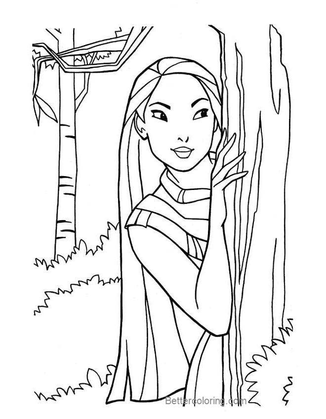 Free Pocahontas Coloring Pages Princess Pictures printable