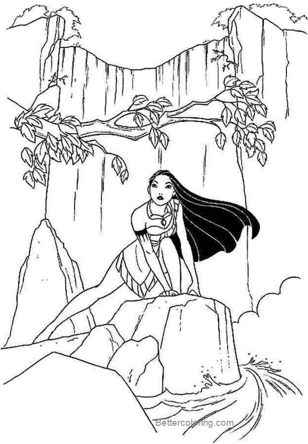 Pocahontas Coloring Pages For Kids Free Printable Coloring Pages
