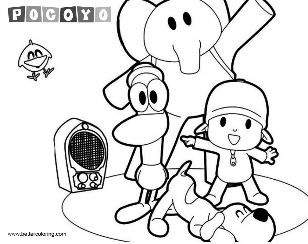 Free Pocoyo Coloring Pages Characters printable