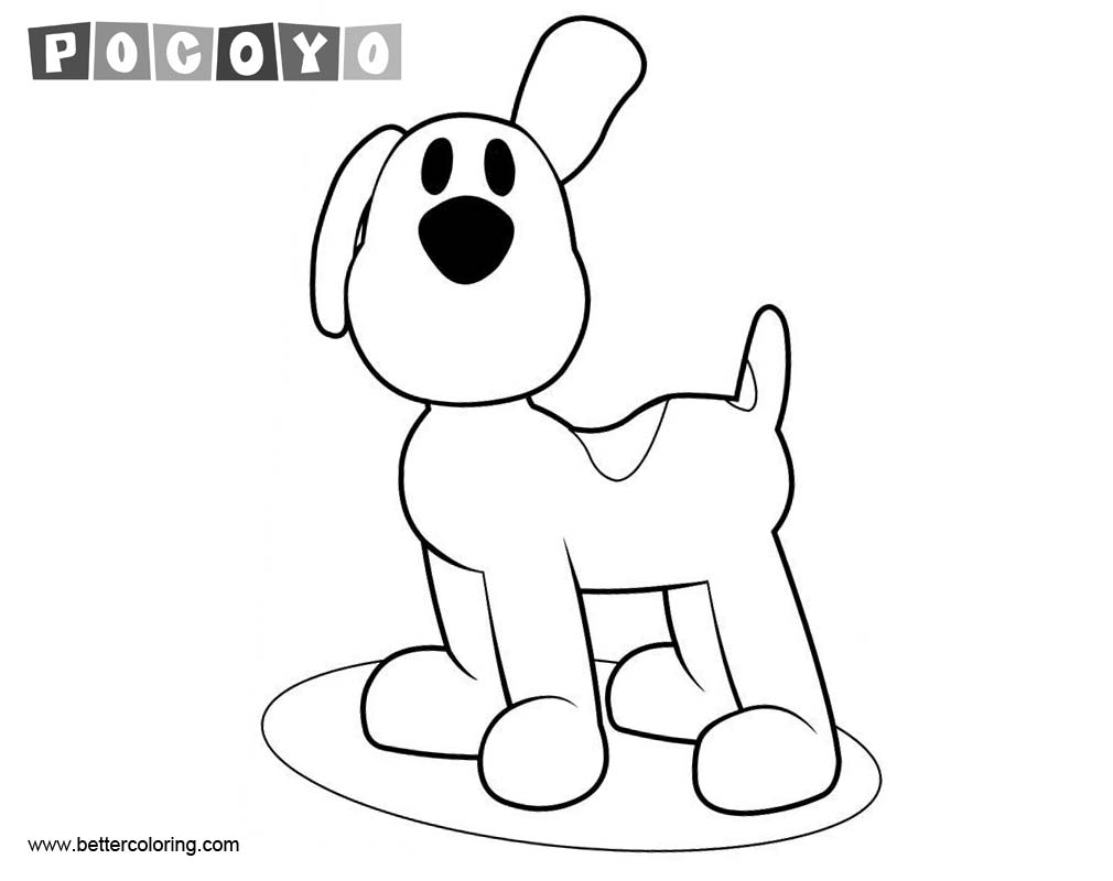 Free Pocoyo Coloring Pages Dog printable