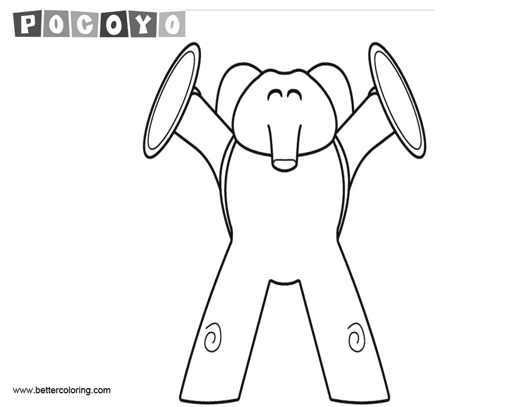 Free Pocoyo Coloring Pages Elly printable