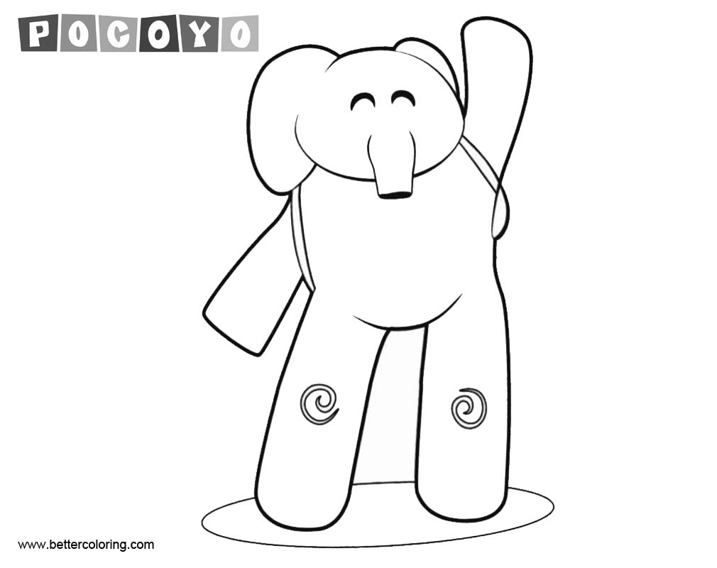 Free Pocoyo Elly Coloring Pages printable