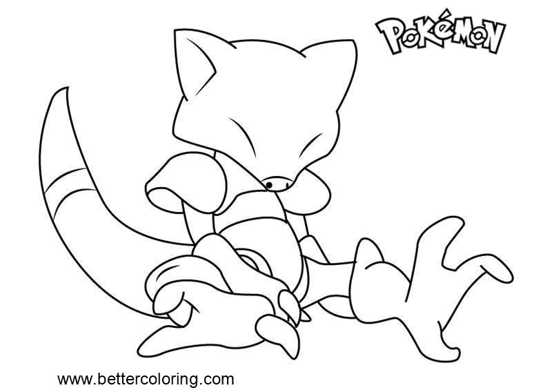 Free Pokemon Coloring Pages Abra printable