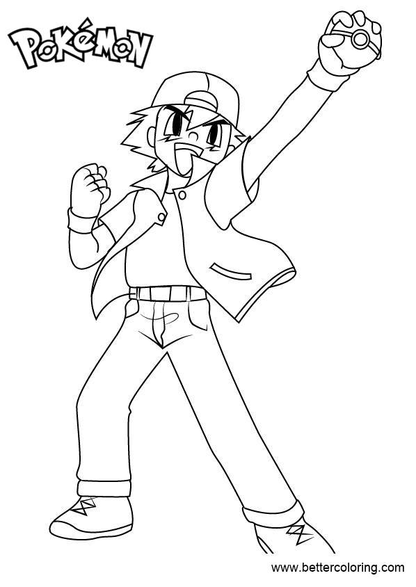 Free Pokemon Coloring Pages Ash Ketchum printable