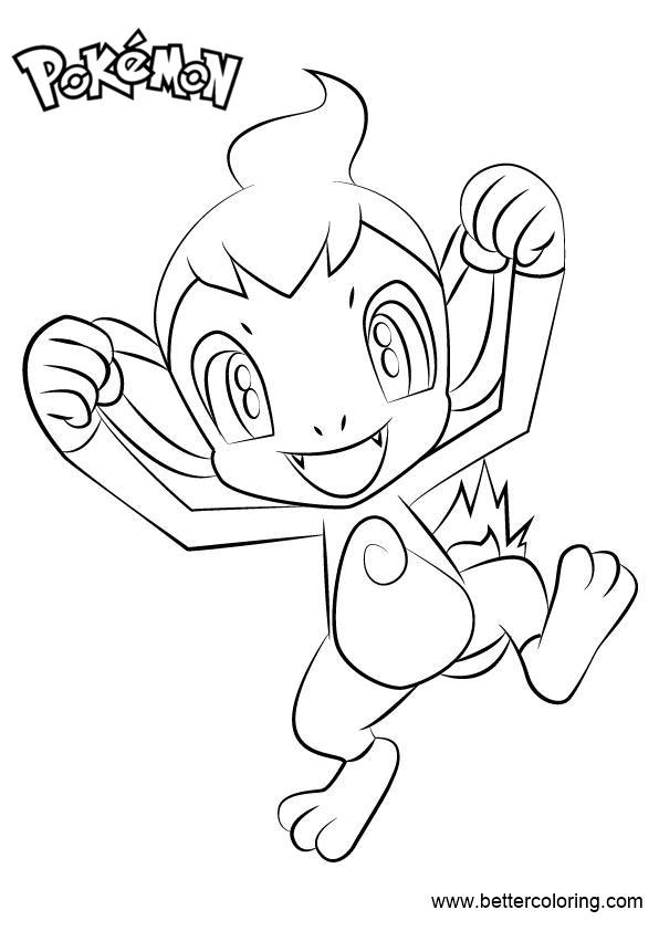 Free Pokemon Coloring Pages Chimchar printable