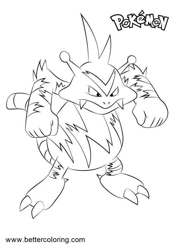 Free Pokemon Coloring Pages Electabuzz printable