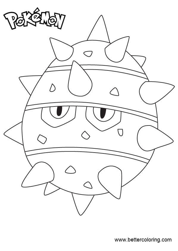 Free Pokemon Coloring Pages Ferroseed printable