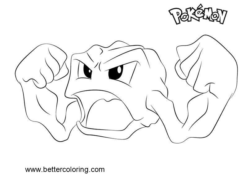 Free Pokemon Coloring Pages Geodude printable