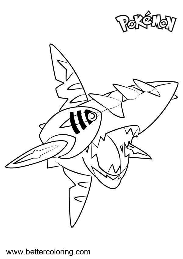 Free Pokemon Coloring Pages Mega Sharpedo printable