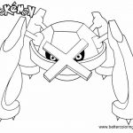 Pokemon Coloring Pages Metagross