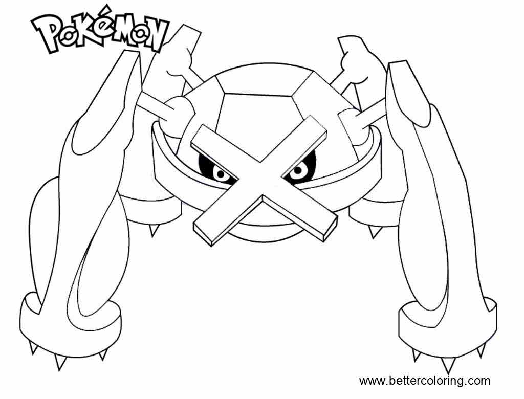 Free Pokemon Coloring Pages Metagross printable
