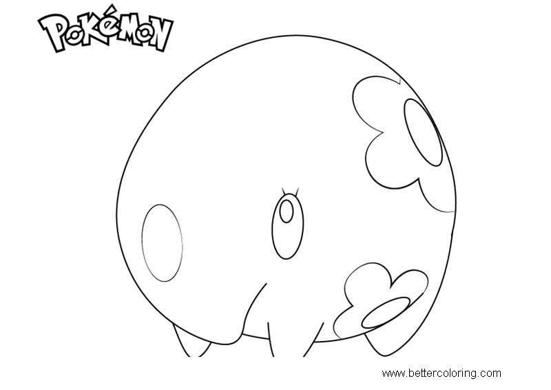 Free Pokemon Coloring Pages Munna printable