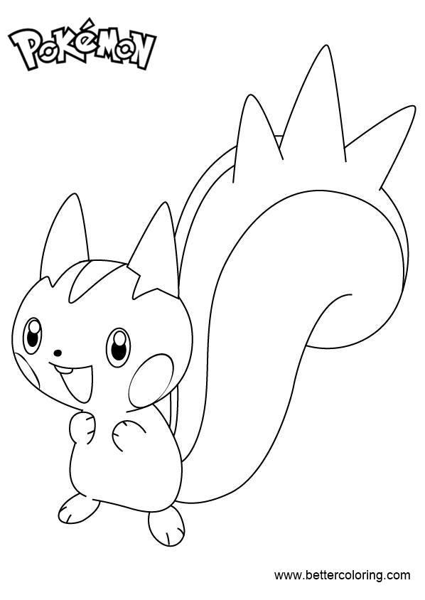 Free Pokemon Coloring Pages Pachirisu printable