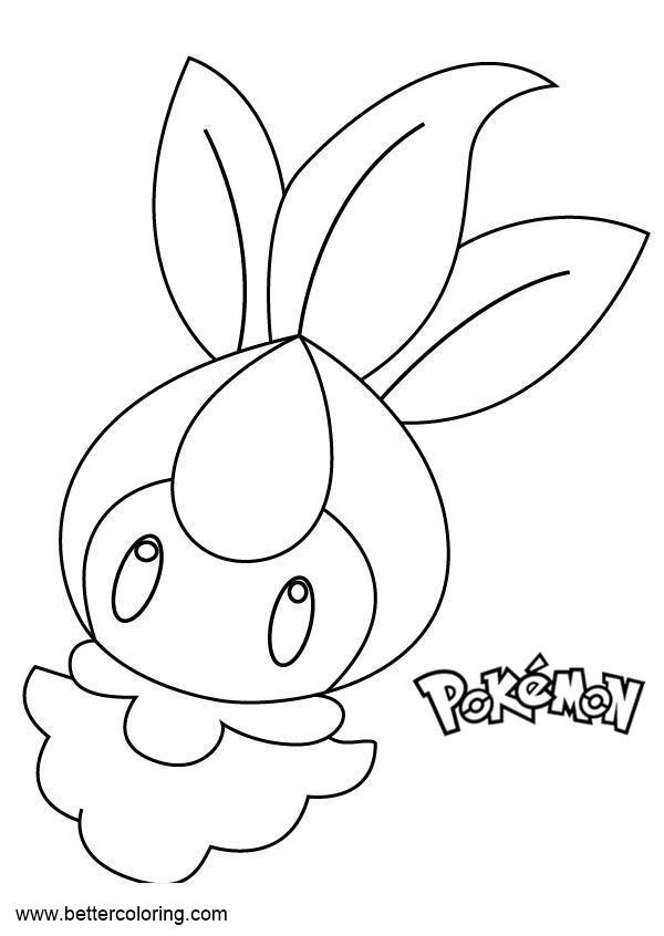 Free Pokemon Coloring Pages Petilil printable