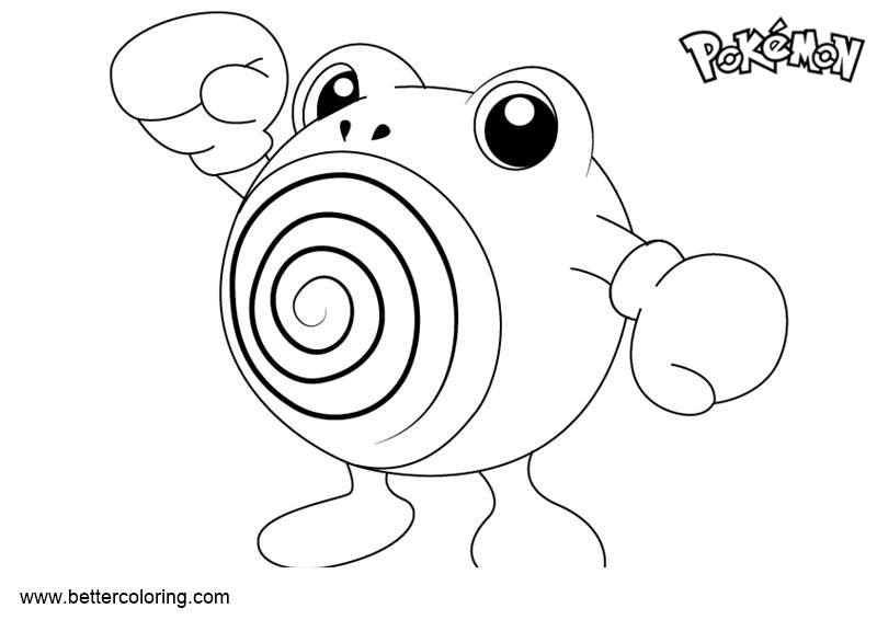 Free Pokemon Coloring Pages Poliwhirl printable
