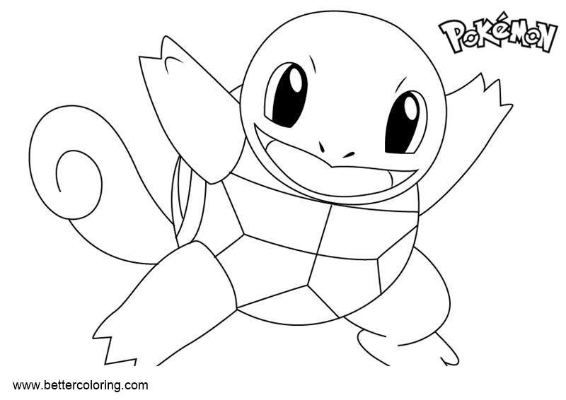 Free Pokemon Coloring Pages Squirtle printable