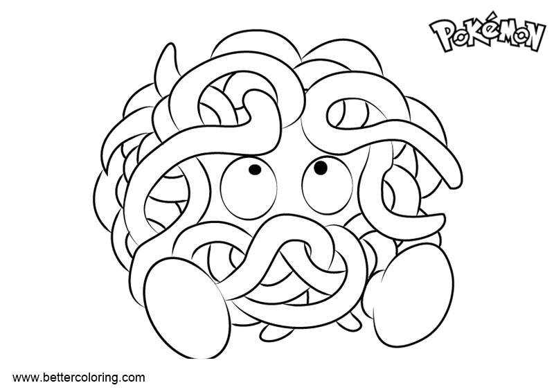 Free Pokemon Coloring Pages Tangela printable