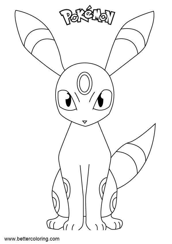 Free Pokemon Coloring Pages Umbreon printable