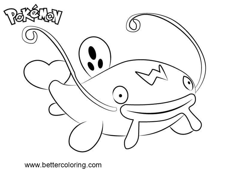 Free Pokemon Coloring Pages Whiscash printable